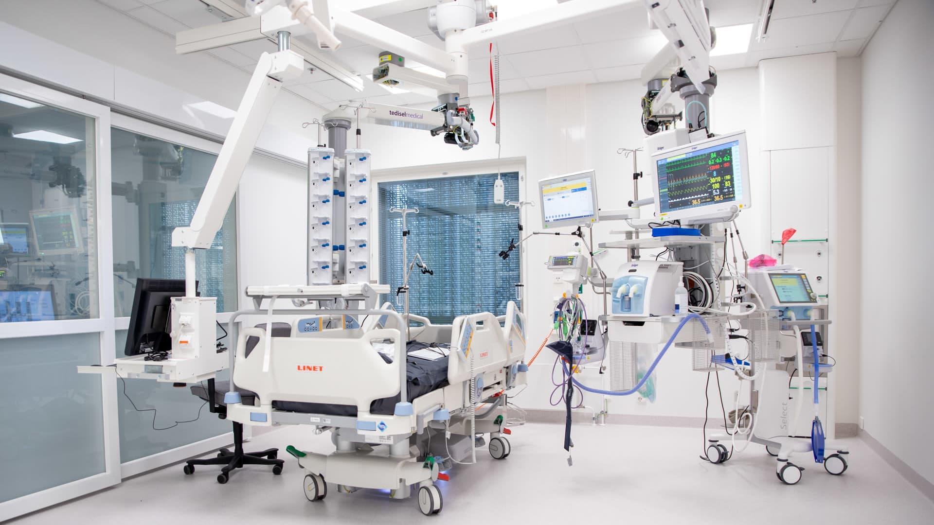 Uuden sairaala Novan teho-osasto.