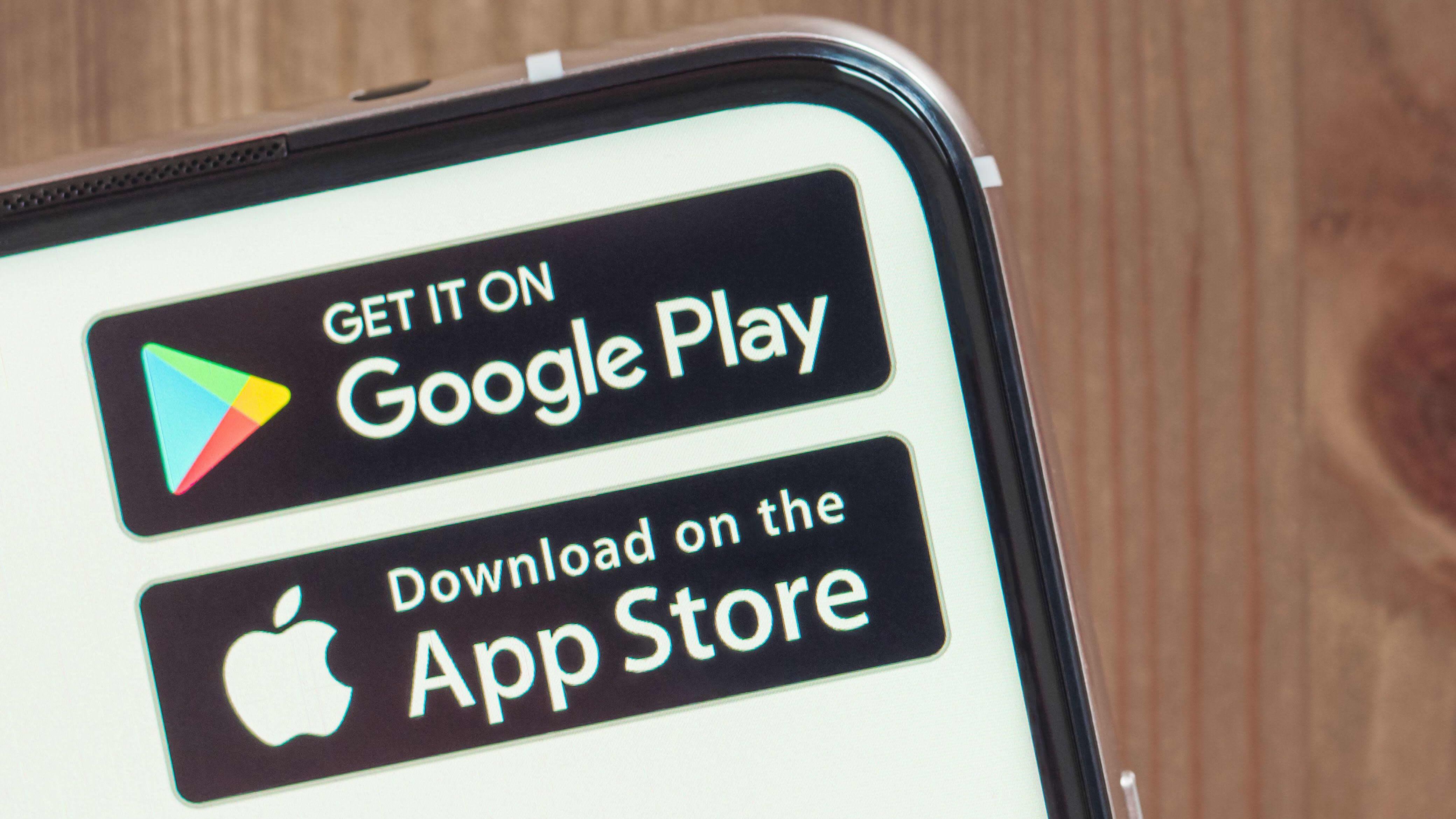 Google Play ja App Store.
