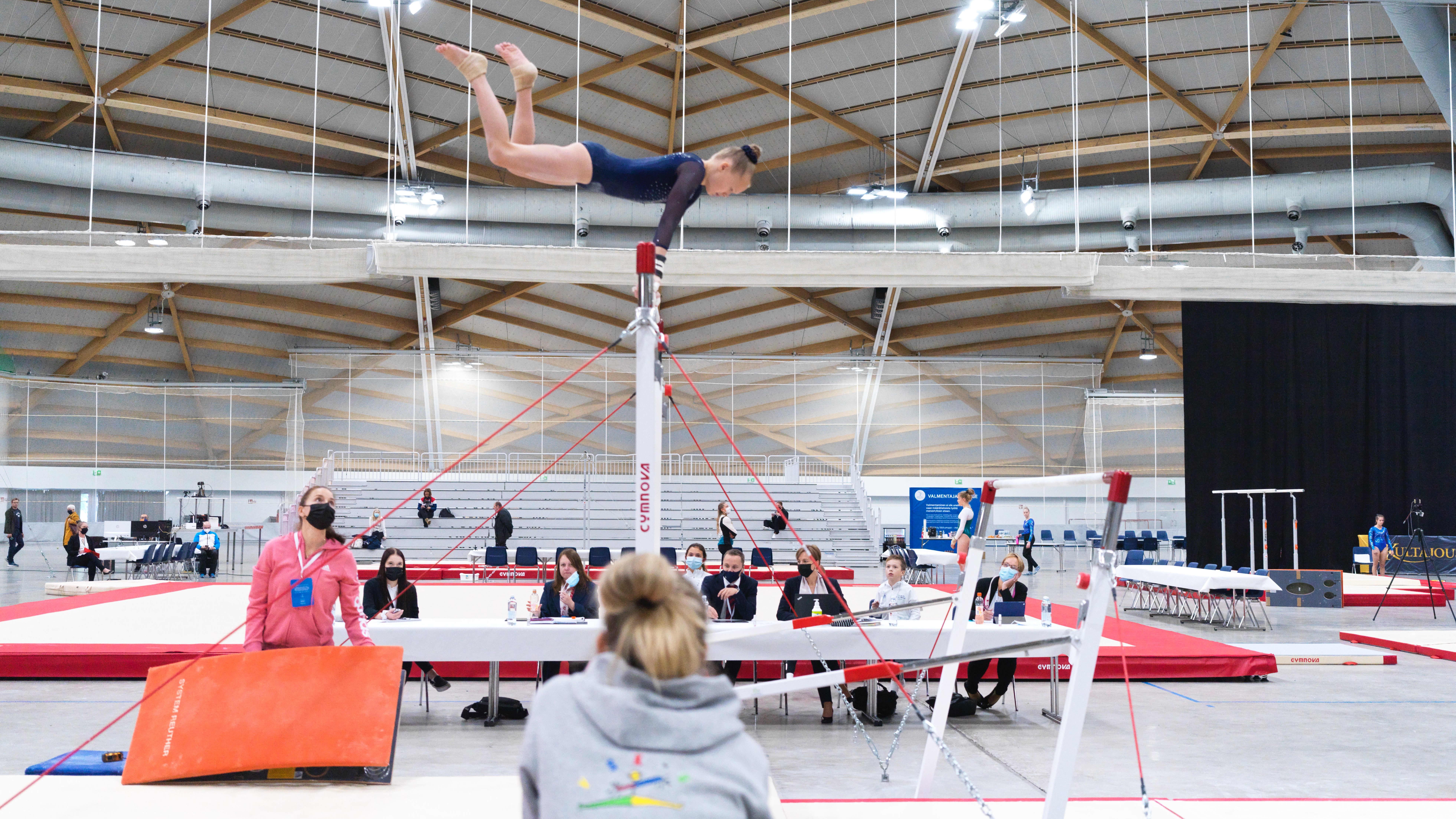 Ouluhalli. Telinevoimistelun SM-kisat 17. –19.9.2021.