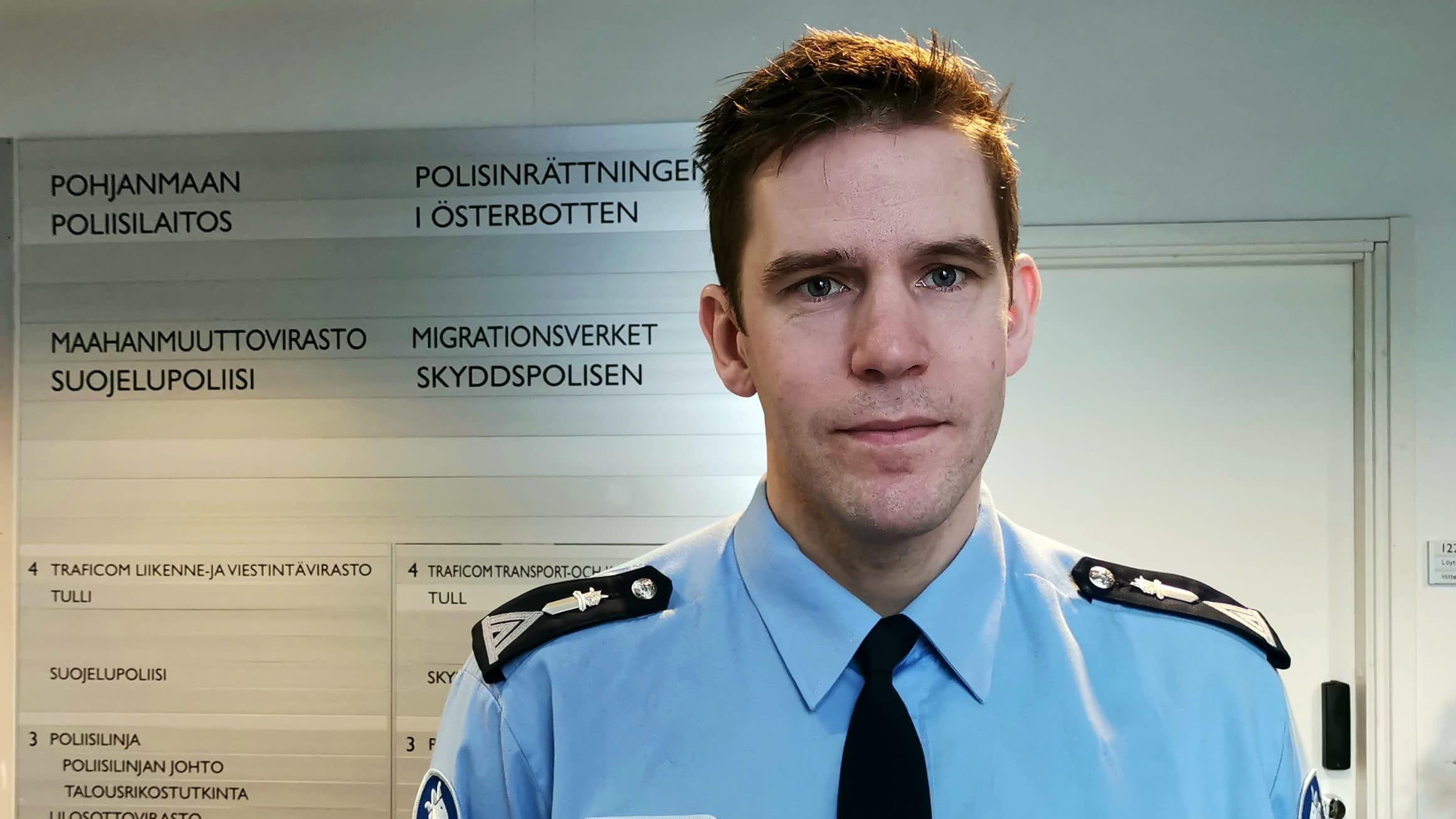 Kuvassa Pohjanmaan poliisilaitoksen viestintäpäällikkö Mikael Appel