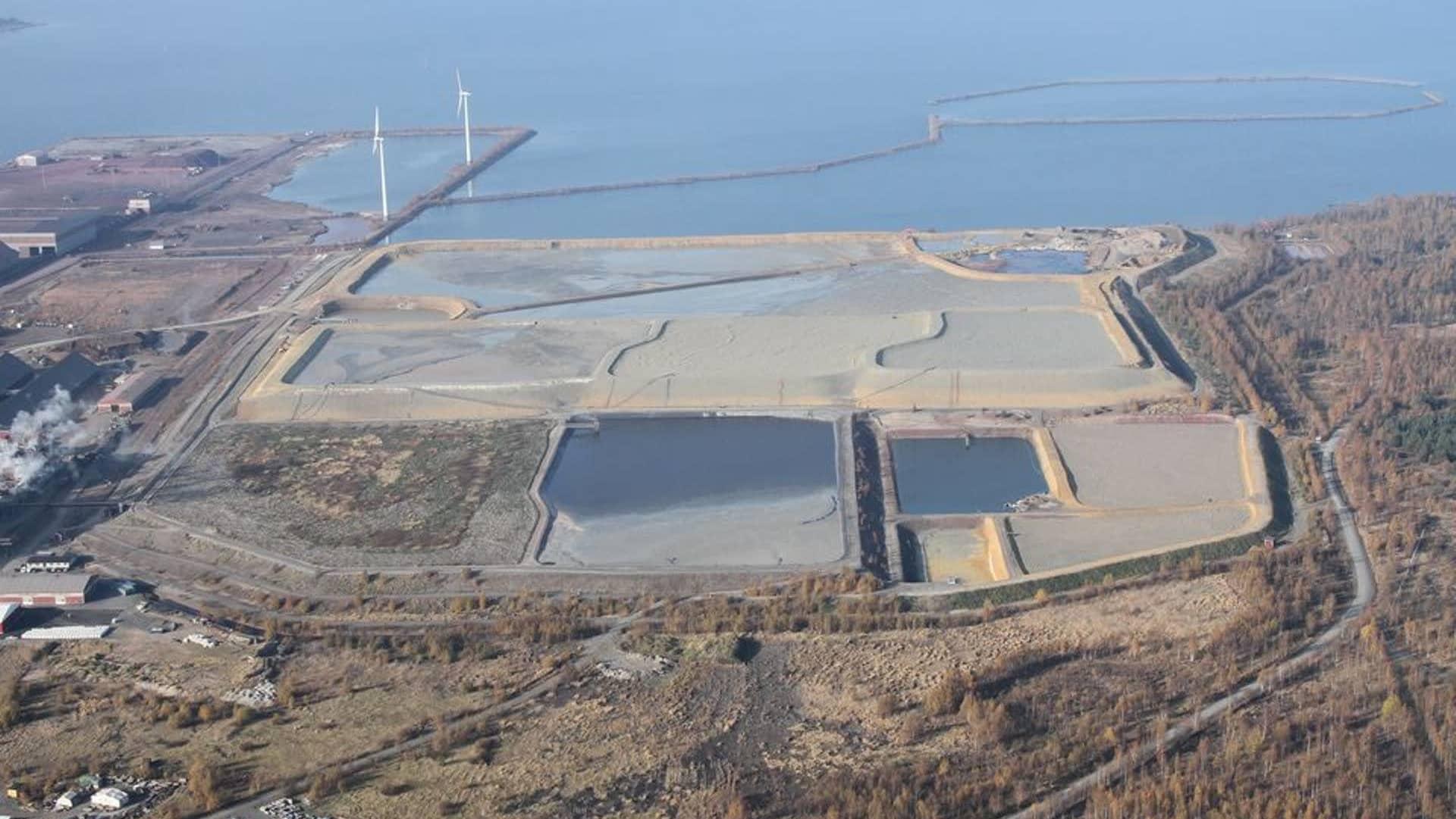 Boliden i Karlebys nuvarande avfallsplats för farliga ämnen.