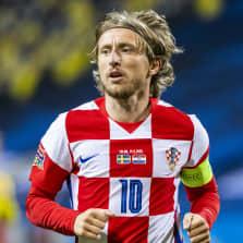 Kroatian jalkapallomaajoukkueen tähtipelaaja Luka Modric