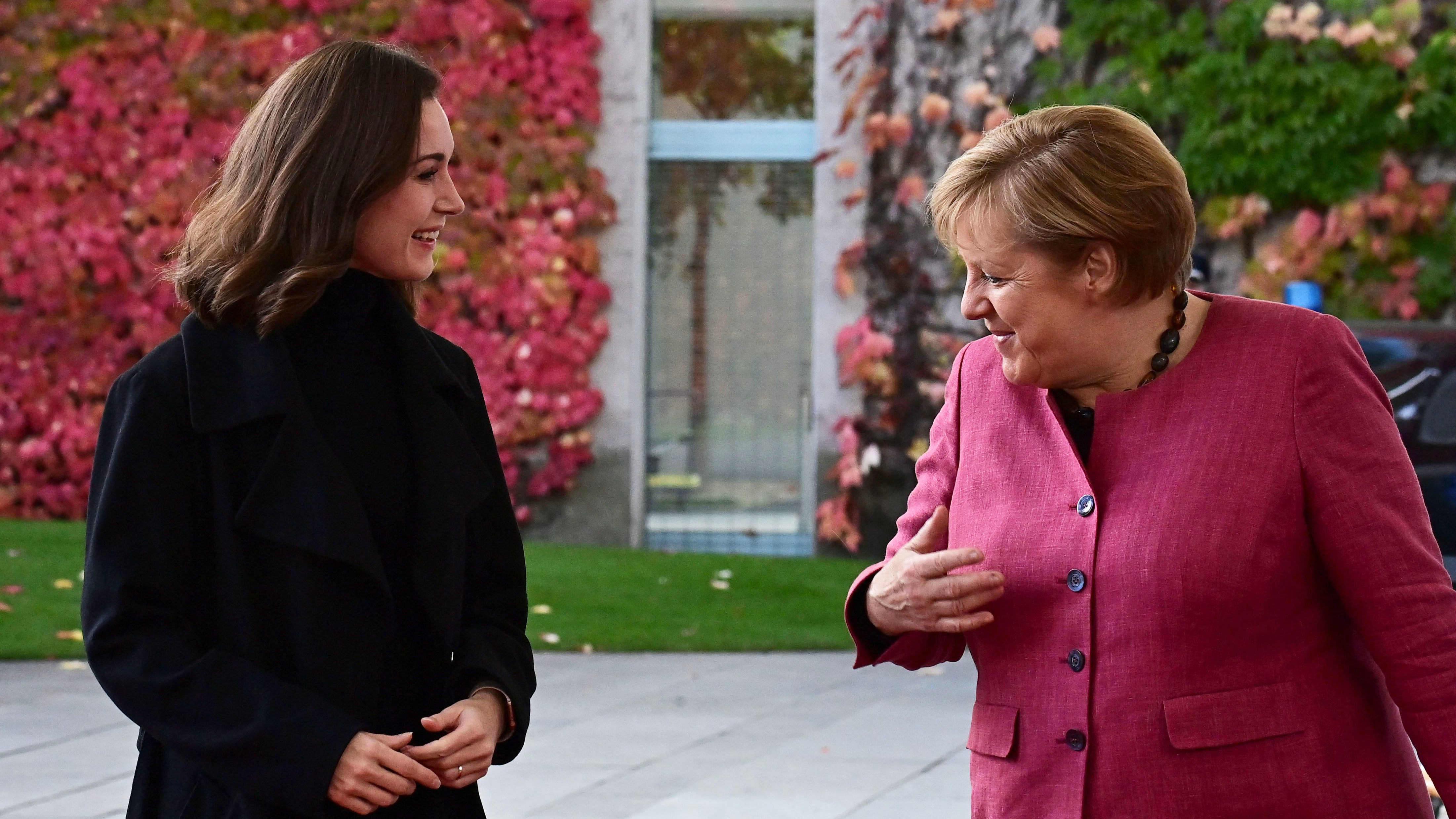 Marinin lehdistötilaisuus Merkelin tapaamisen jälkeen