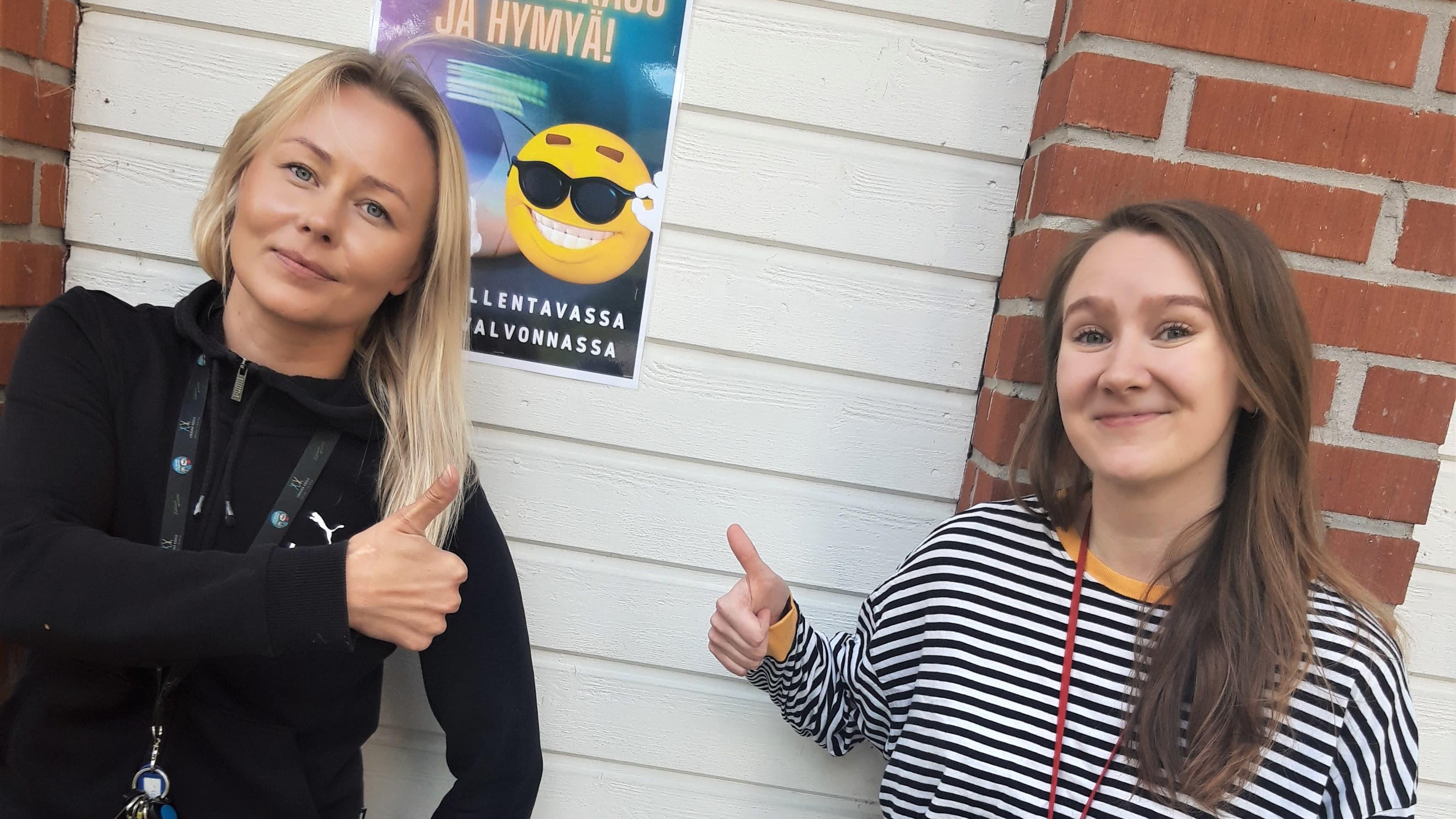 Malla Kosunen ja Laura Lehtola