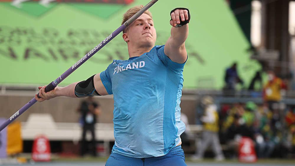 Janne Läspä voitti nuorten MM-kultaa Nairobissa.