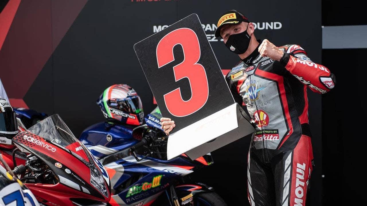 Niki Tuuli oli tyytyväinen kolmostilaansa Jerezin radalla.