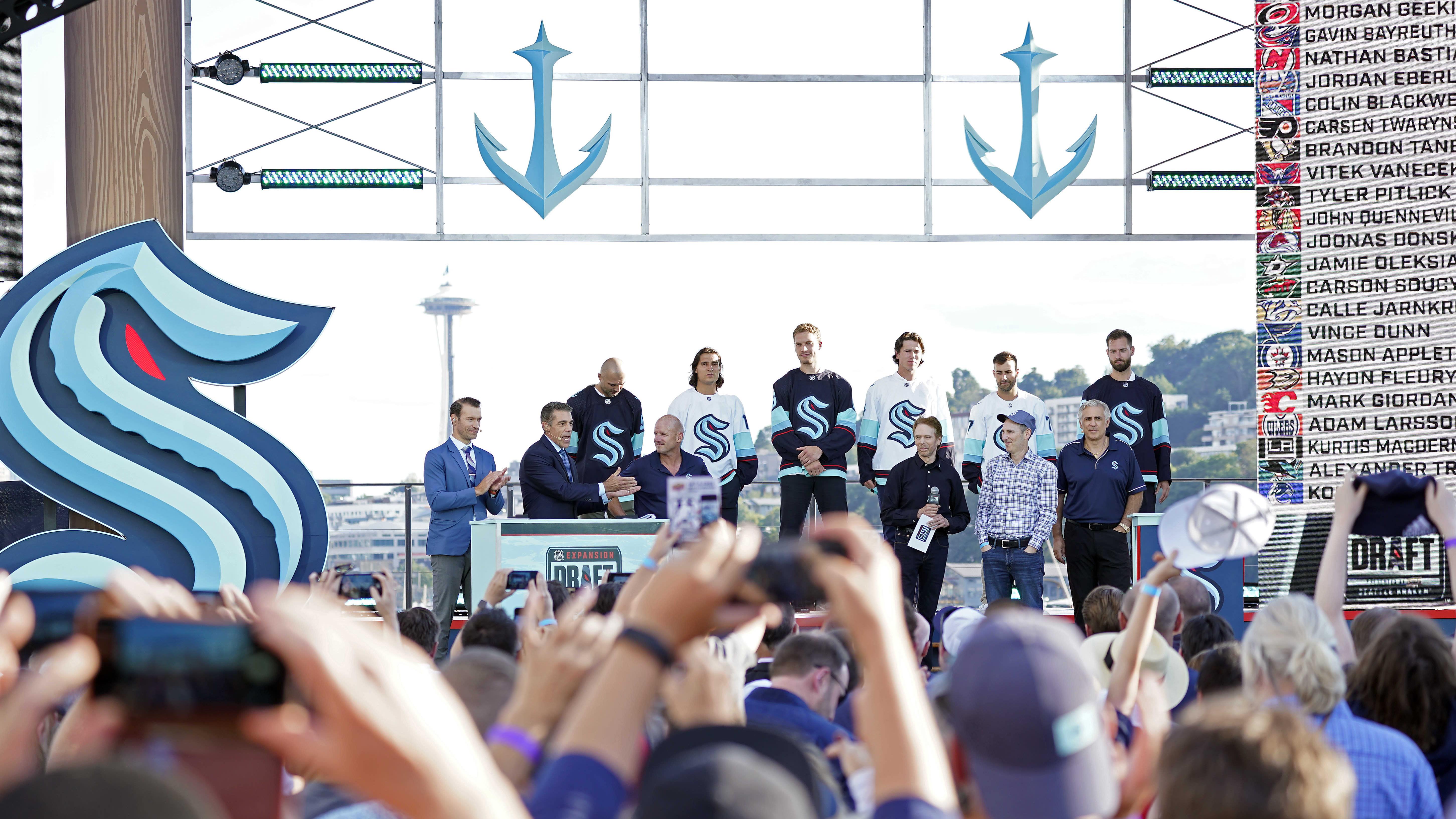 Seattle Krakenin laajennusvaraustilaisuus Seattlessa.