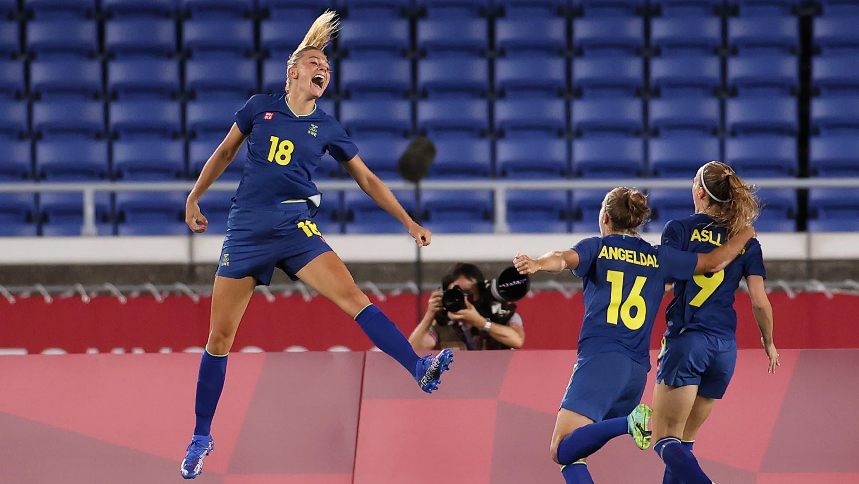 Australia ja Ruotsi kamppailivat olympialaisten naisten jalkapalloturnauksen välierässä