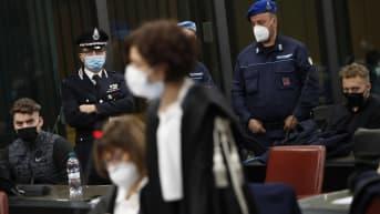 Gabriel Natale-Hjorth ja Finnegan Lee Elder kuvattuna oikeudenkäynnissä Roomassa maaliskuussa 2021.