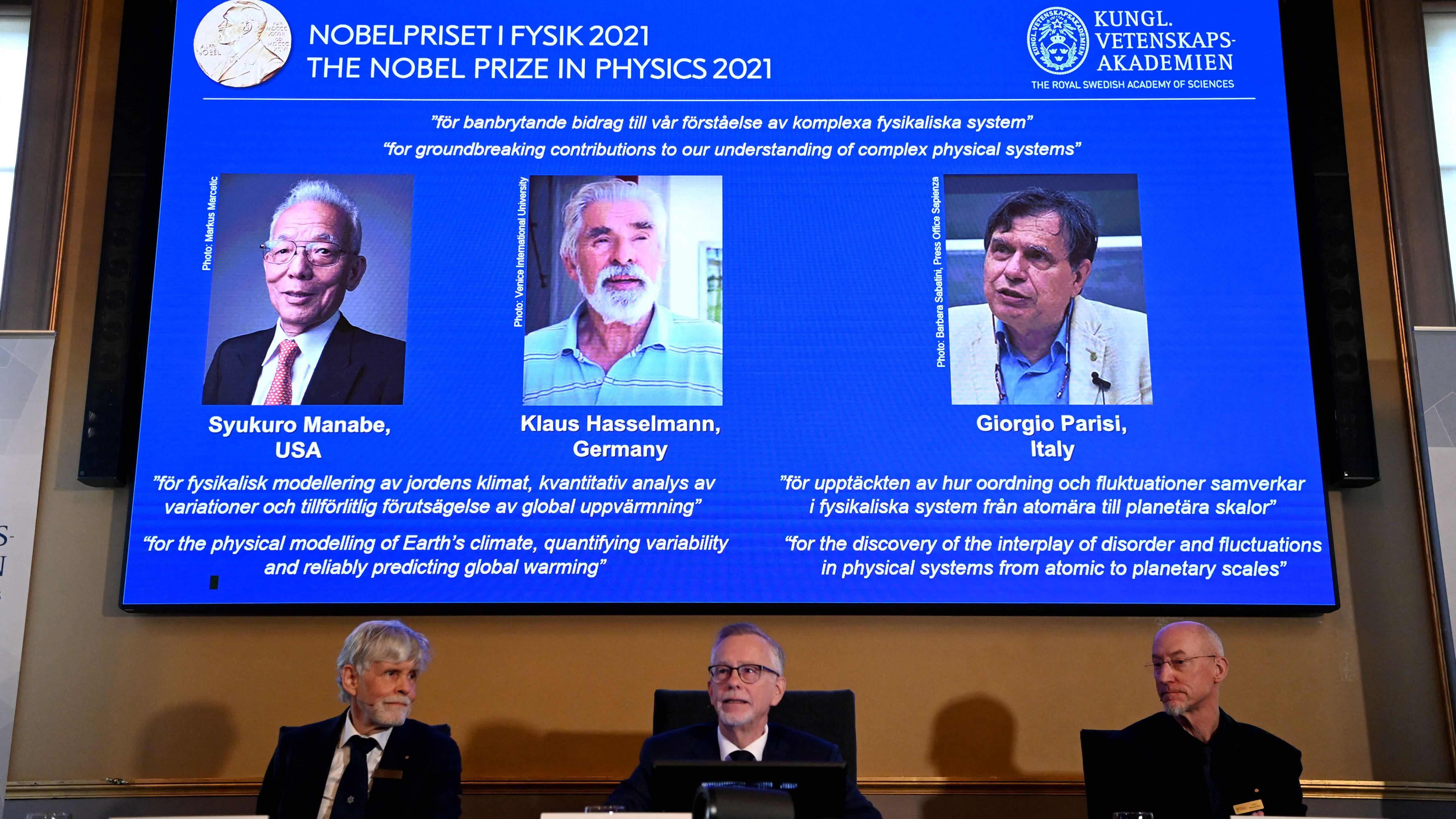 Fysiikan Nobel ilmastonmuutoksen perusteiden avaajille
