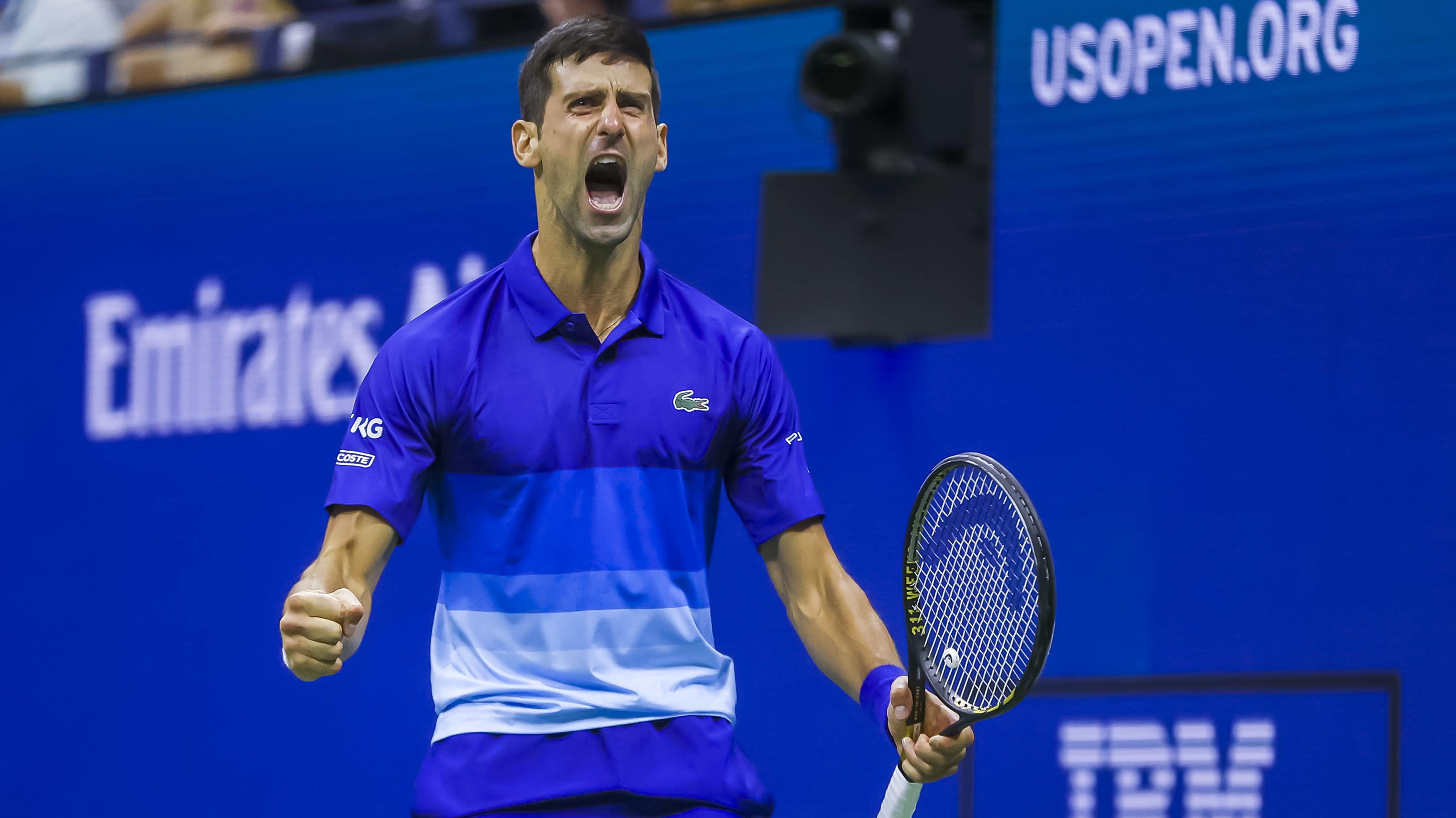 Novak Djokovic tuulettaa.