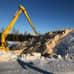 Lumen säilöntäpaikka Porin metsässä.