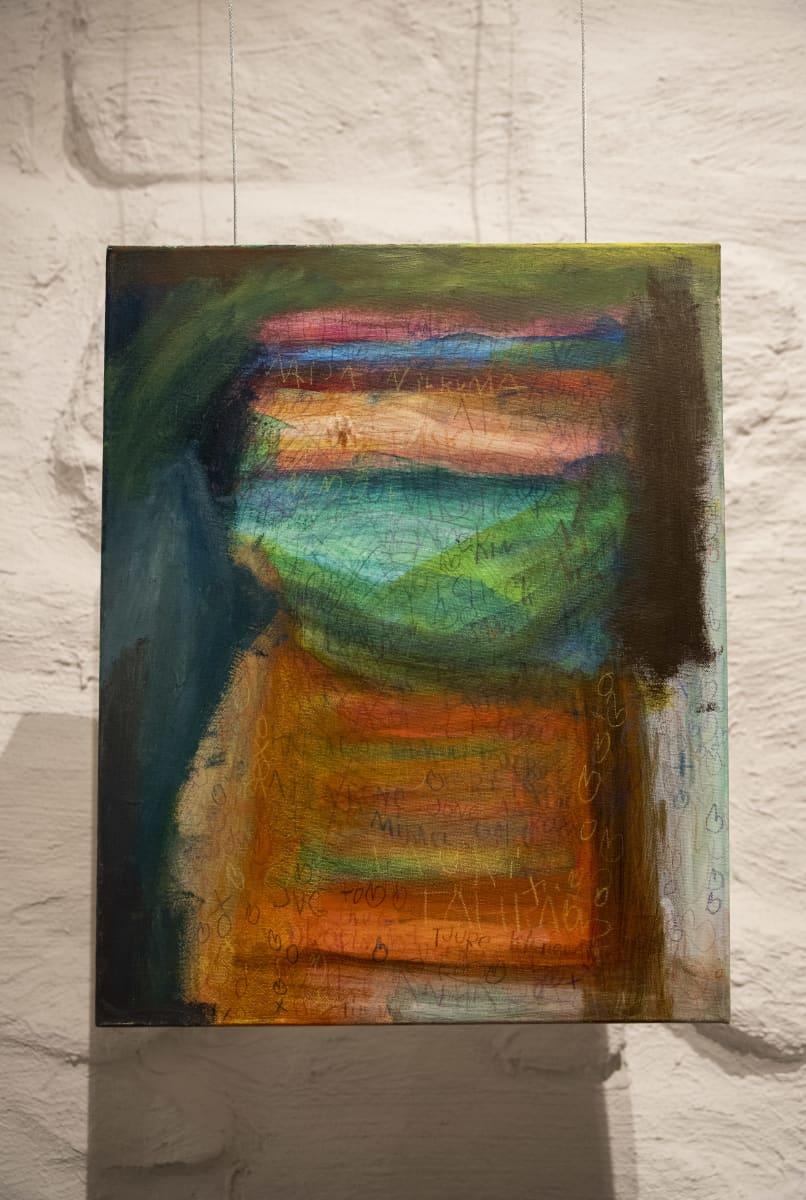 Seita Tenttulan maalaus Galleria Pihatossa.