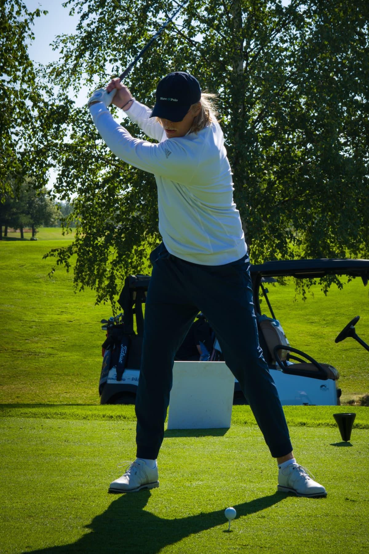Patrik Laineen golf swing.