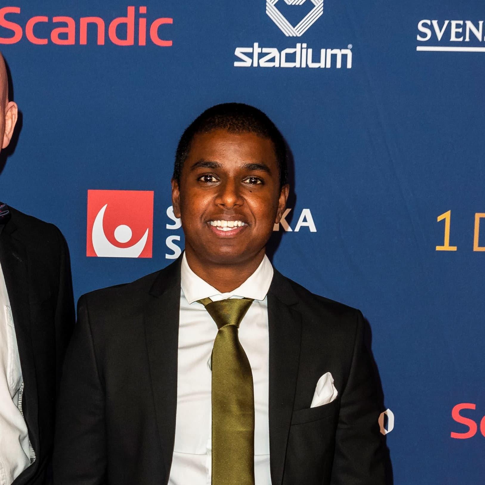 Loui Sand Ruotsin urheilugaalassa vuonna 2020