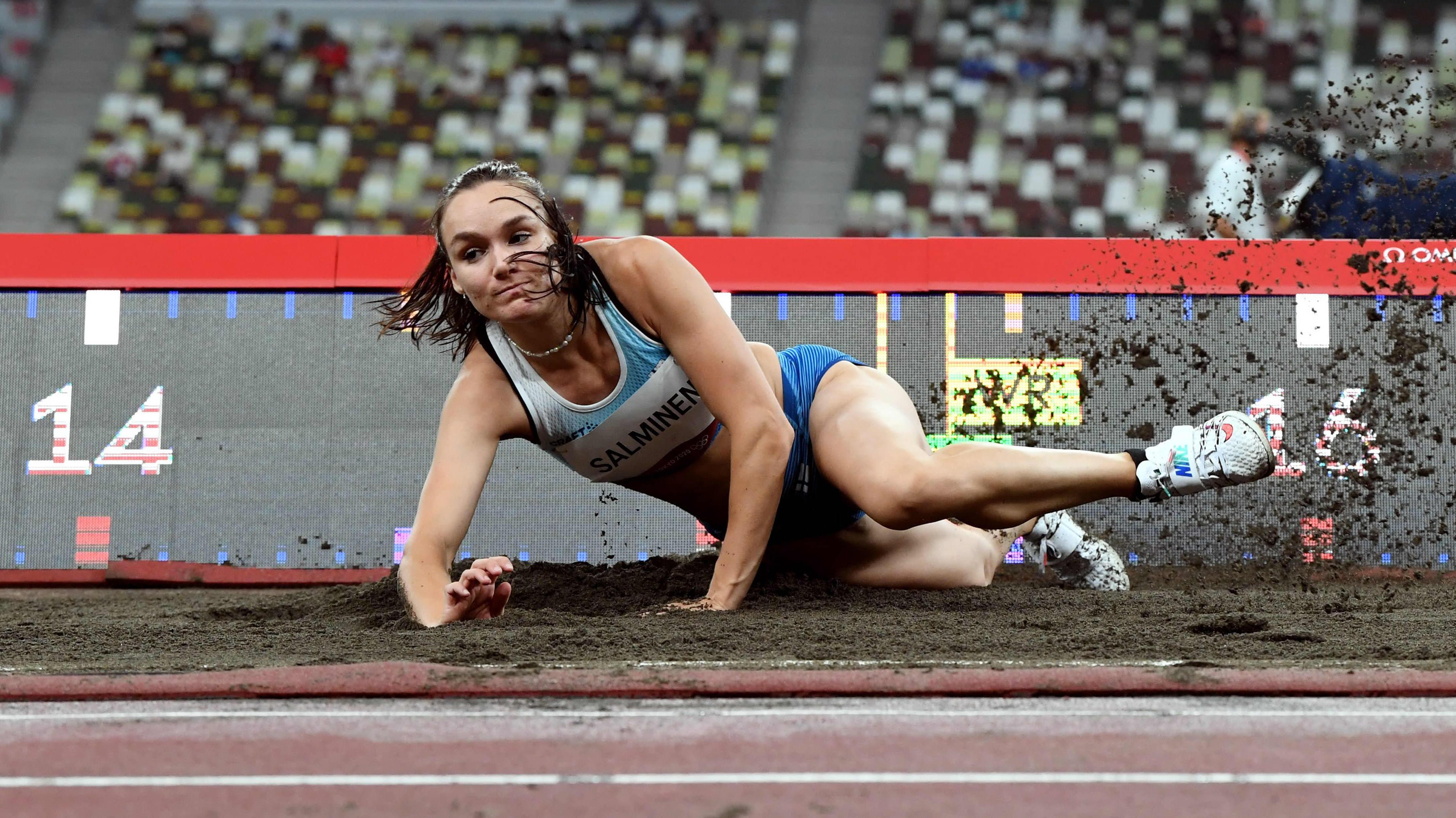 Senni Salminen i OS i Tokyo.