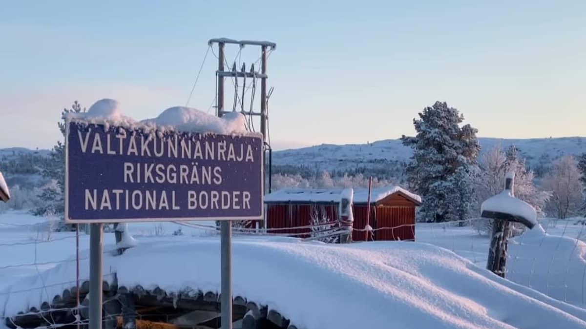 Suomen ja Norjan valtakunnan raja Näätämössä