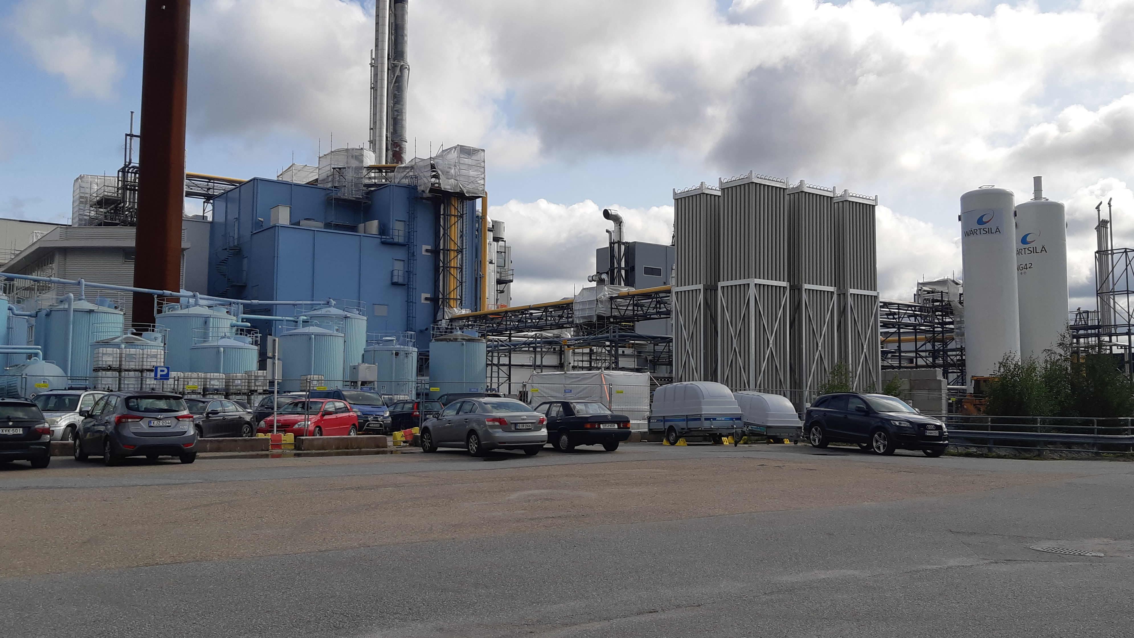 LNG terminaalin rakennustyömaa