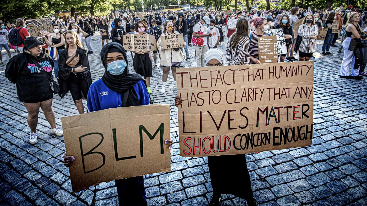 Black Lives Matter -mielenilmaus Turussa