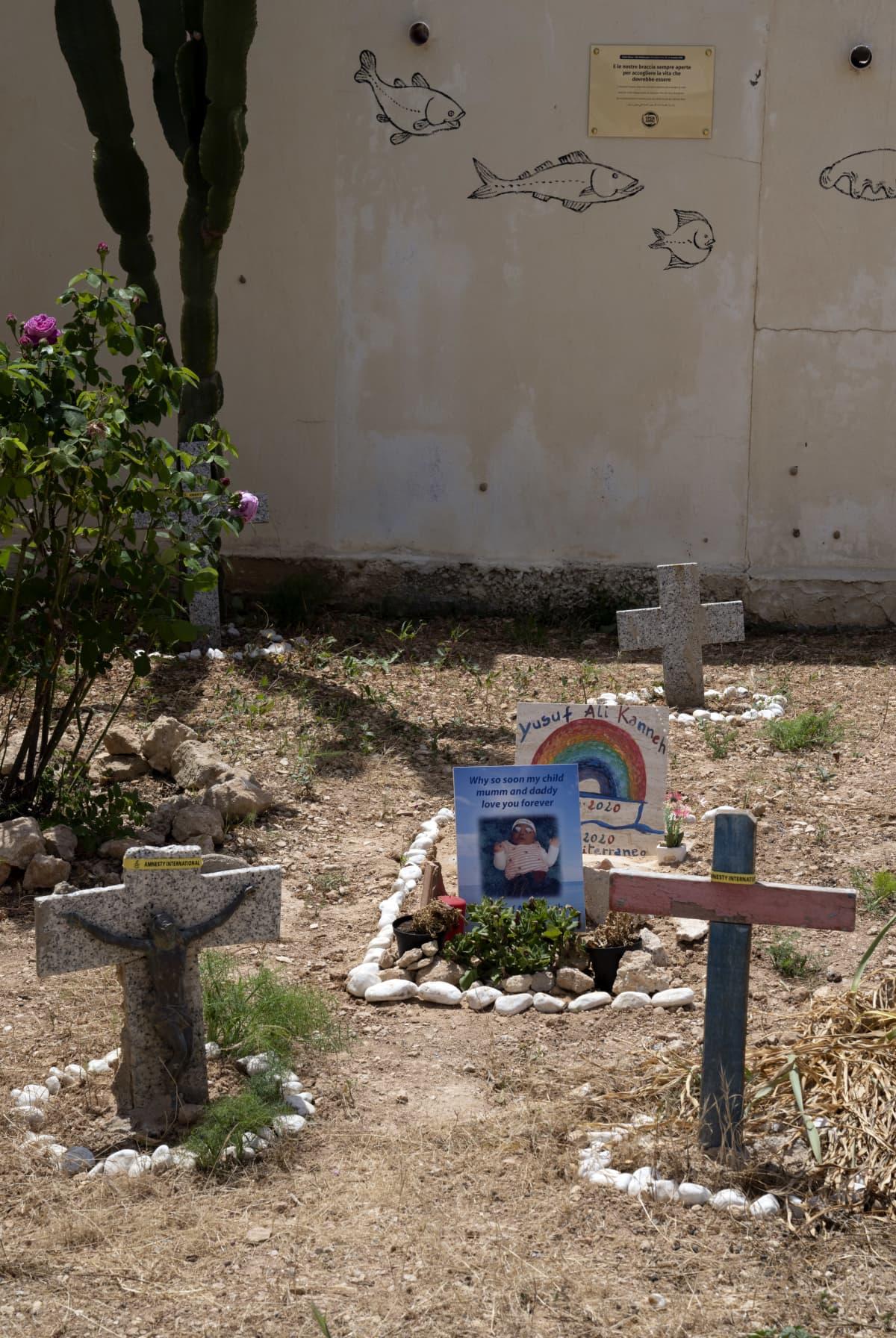 Hautausmaa Lampedusalla.