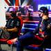 Formula 1 -kuljettajat Lewis Hamilton ja Max Verstappen