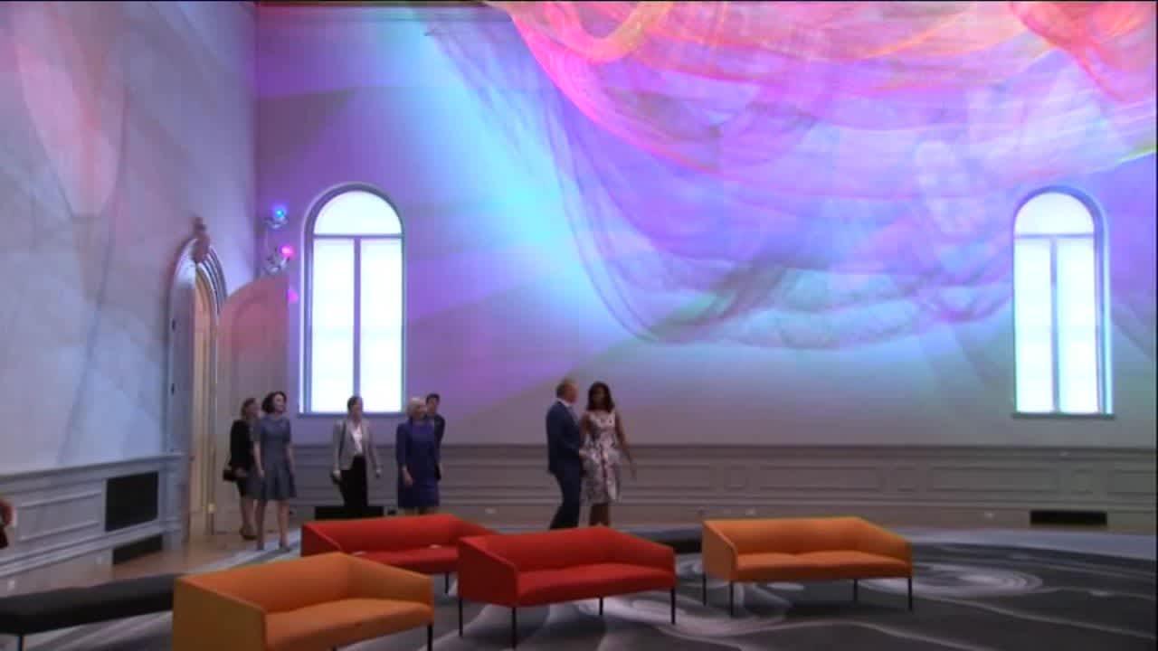 Uutisvideot: Michelle Obama ja Pohjoismaiden johtajien puolisot tutustuivat taidekasvatukseen