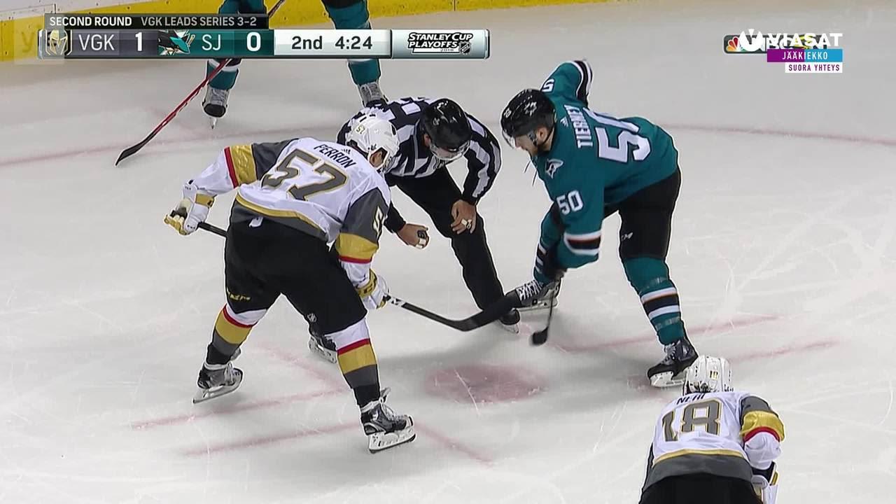 NHL: Erik Haula sai syöttöpisteen omituiseen osumaan