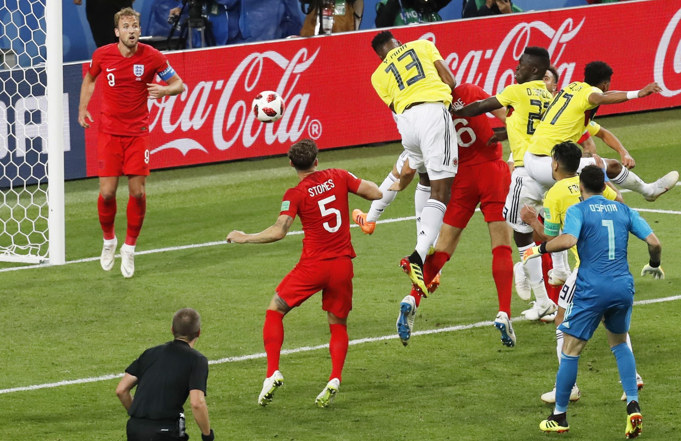 Englanti astui Minaan – Kolumbian maaliahne toppari puski pelin tasoihin ja jatko-otteluun