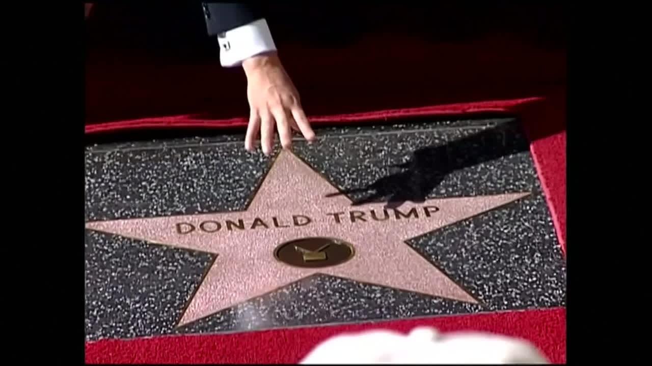 Trumpin tähti tuhottiin Hollywoodissa, tällä kertaa kyseessä hakkua heiluttanut mies
