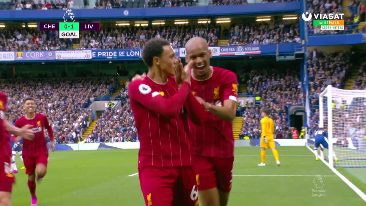 Liverpool kaatoi Chelsean