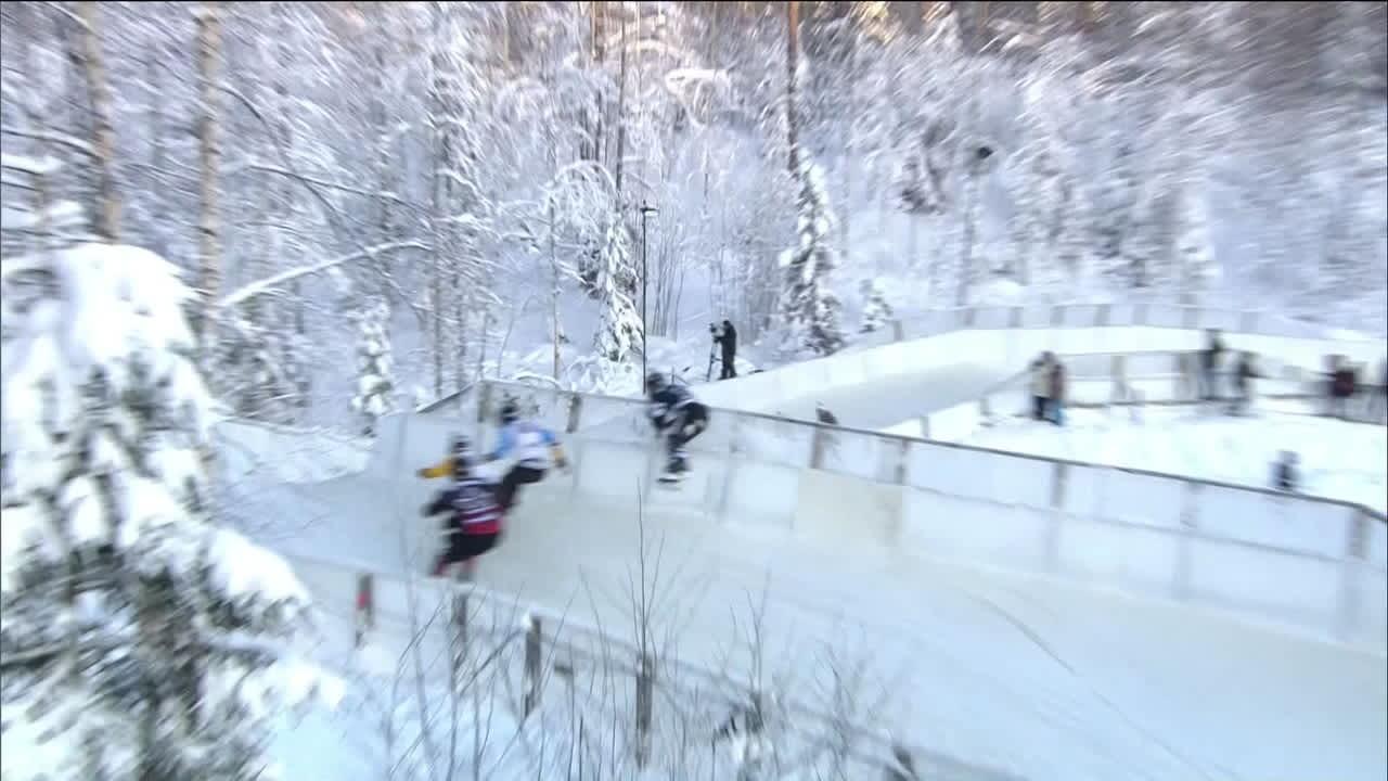 Urheilujuttuja: Jyväskylässä dramaattinen alamäkiluistelun MM-osakilpailun finaali