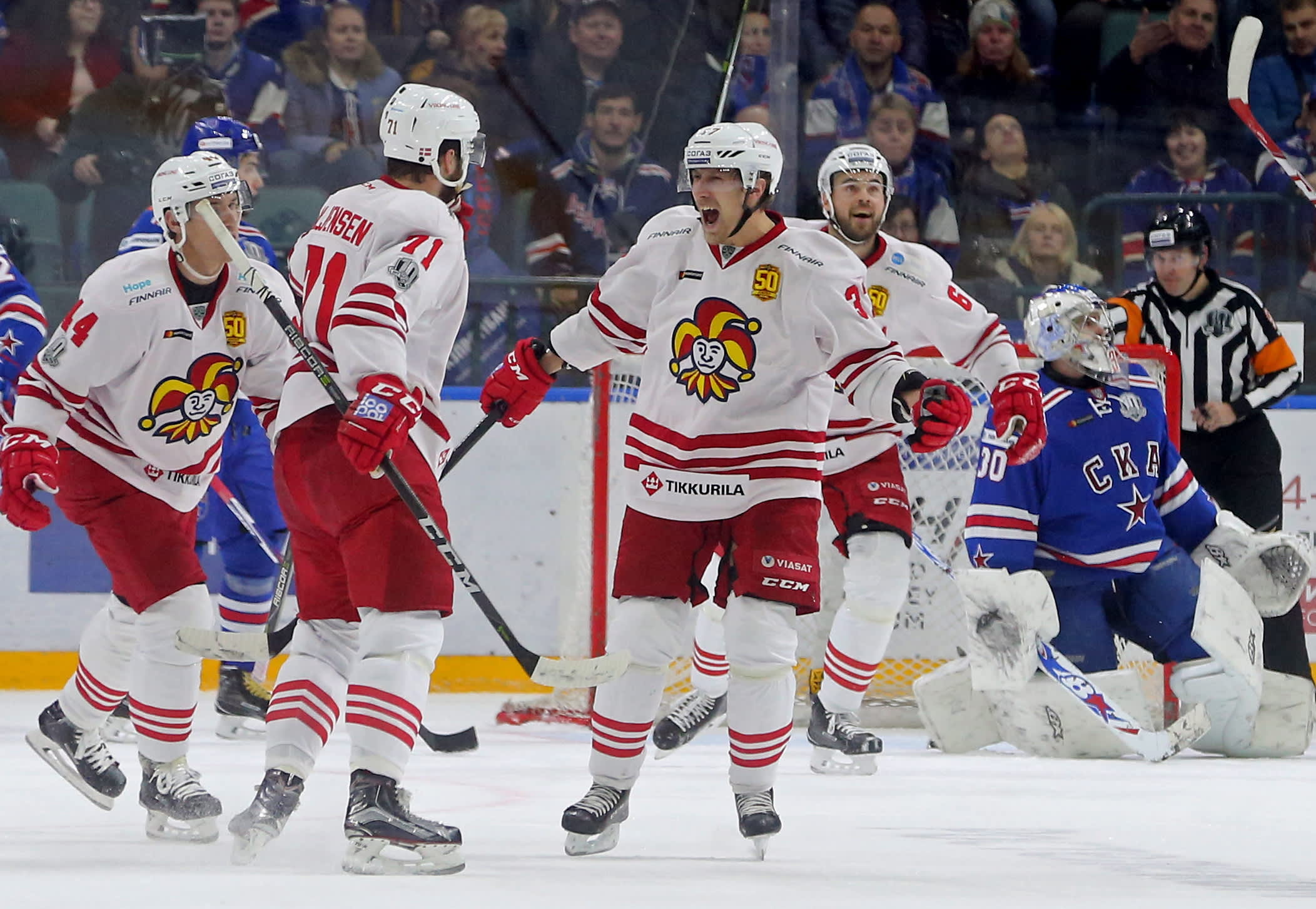 Jokerit kohtasi Pietarin SKA:n KHL-liigan ottelussa.