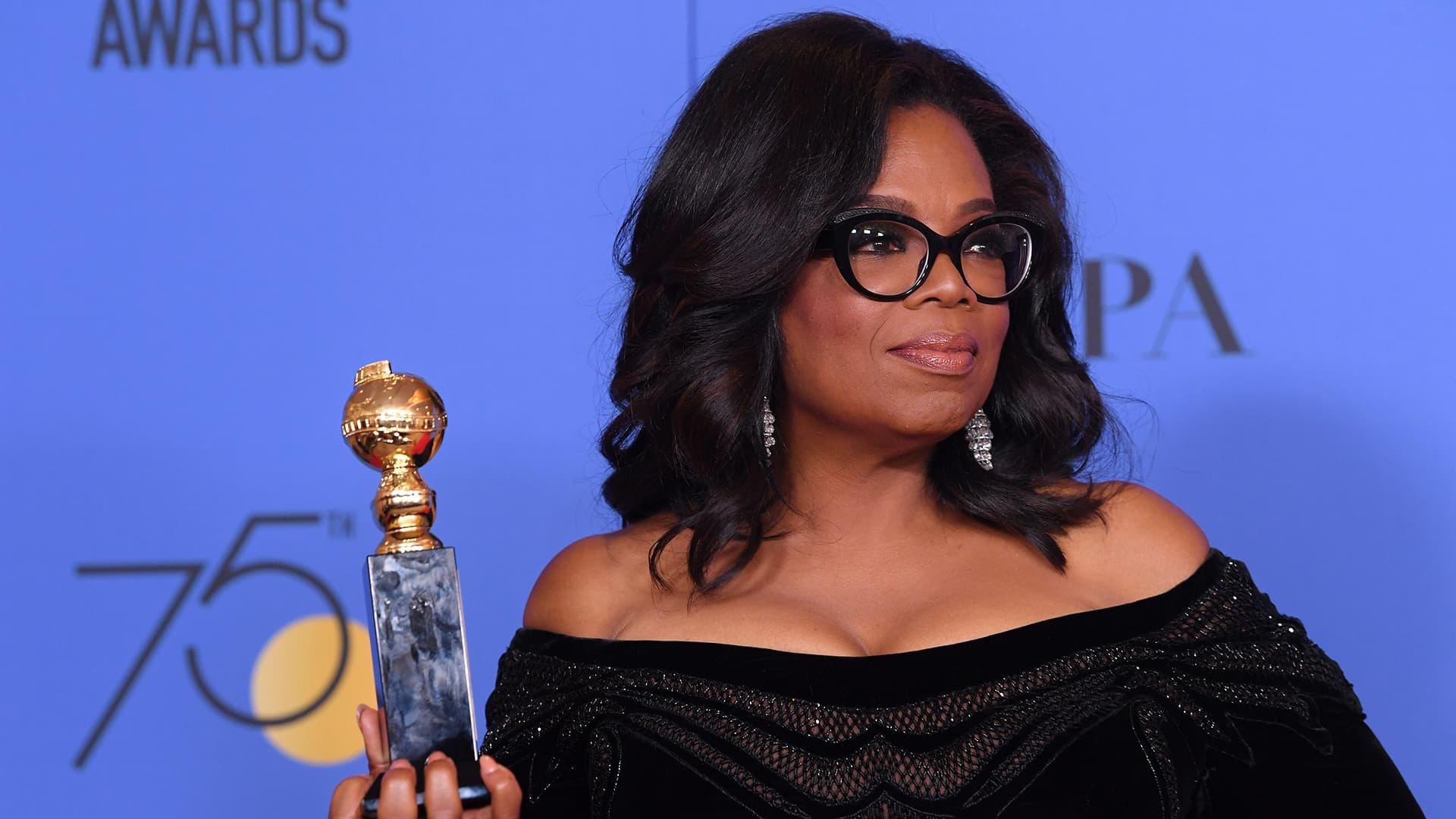 Oprah Winfrey Golden Globe Awards -gaalassa.