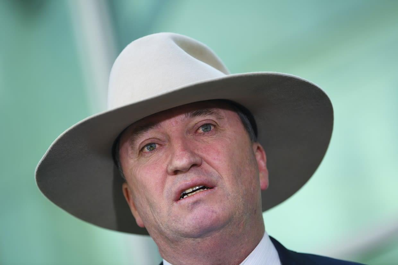 Australian Kansallispuolueen puheenjohtaja ja varapääministeri Barnaby Joyce.