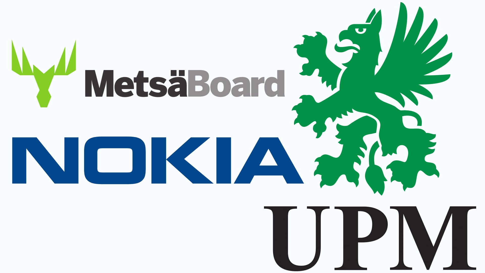 UPM MetsäBoard ja Nokia logot