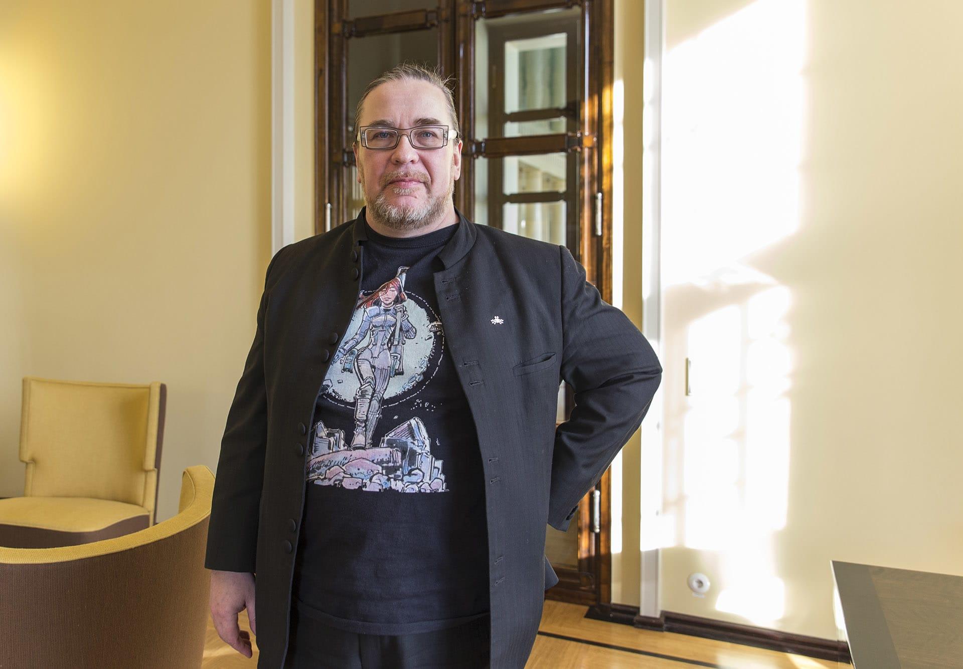 Vihreiden kansanedustaja Jyrki Kasvi.