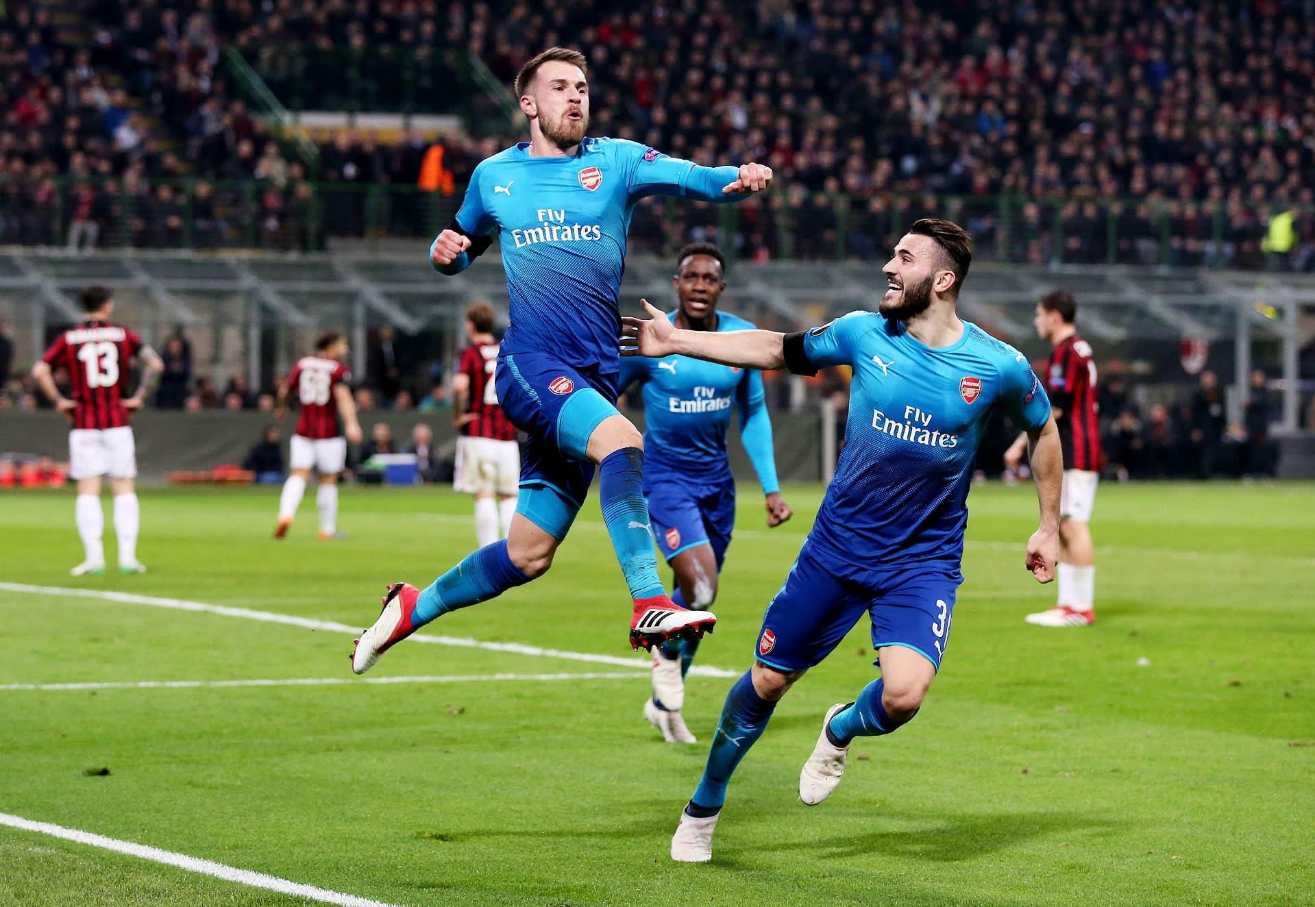 Arsenalin Aaron Ramsey juhlatuulella