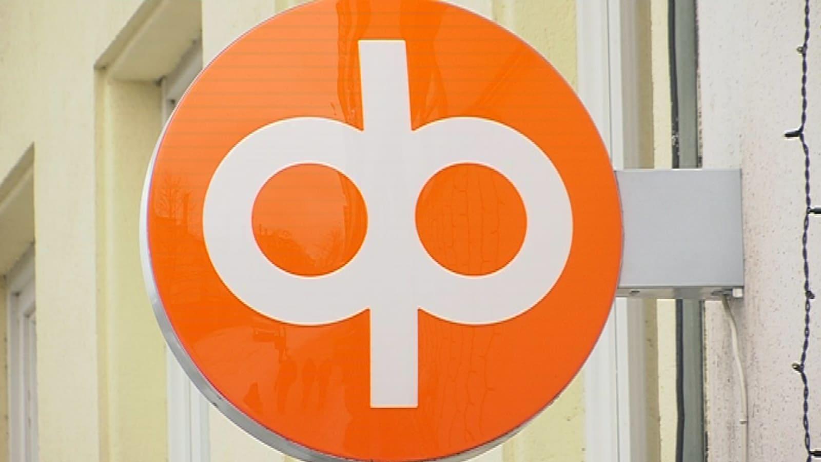 Osuuspankin logo pankin ulkoseinässä