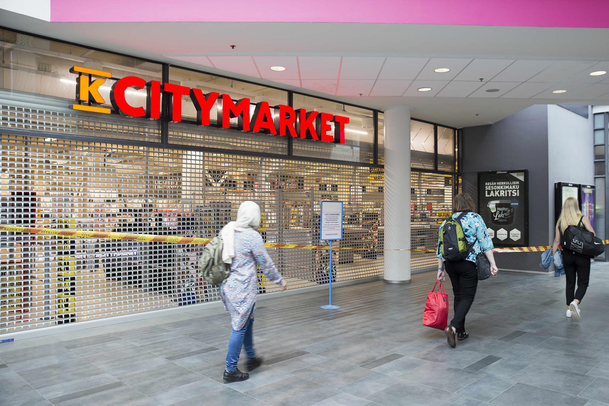 Myyrmannin ostoskeskus on auki tavalliseen tapaan lukuunottamatta Citymarketia.