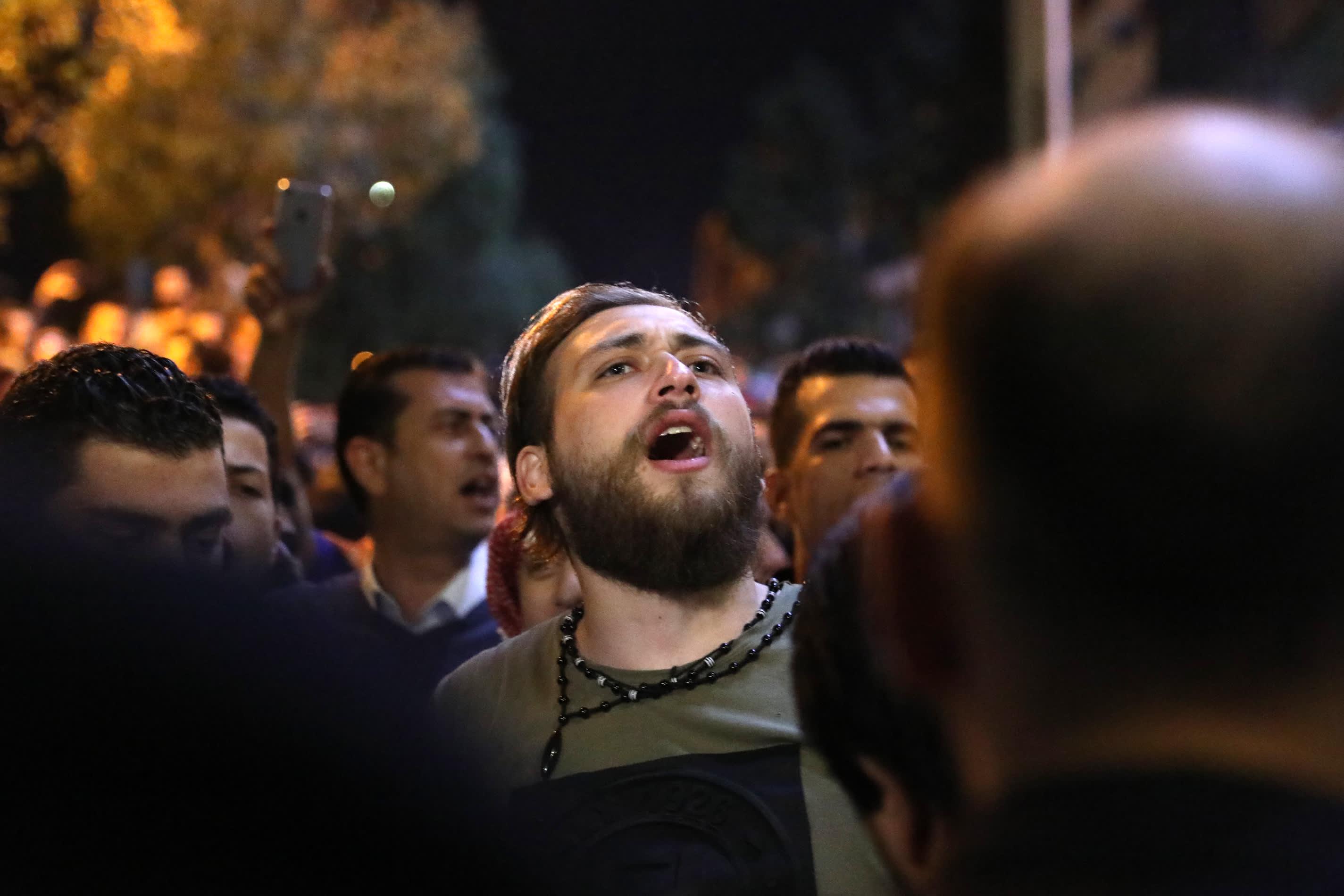 Mielenosoittajia Jordanian Ammanissa