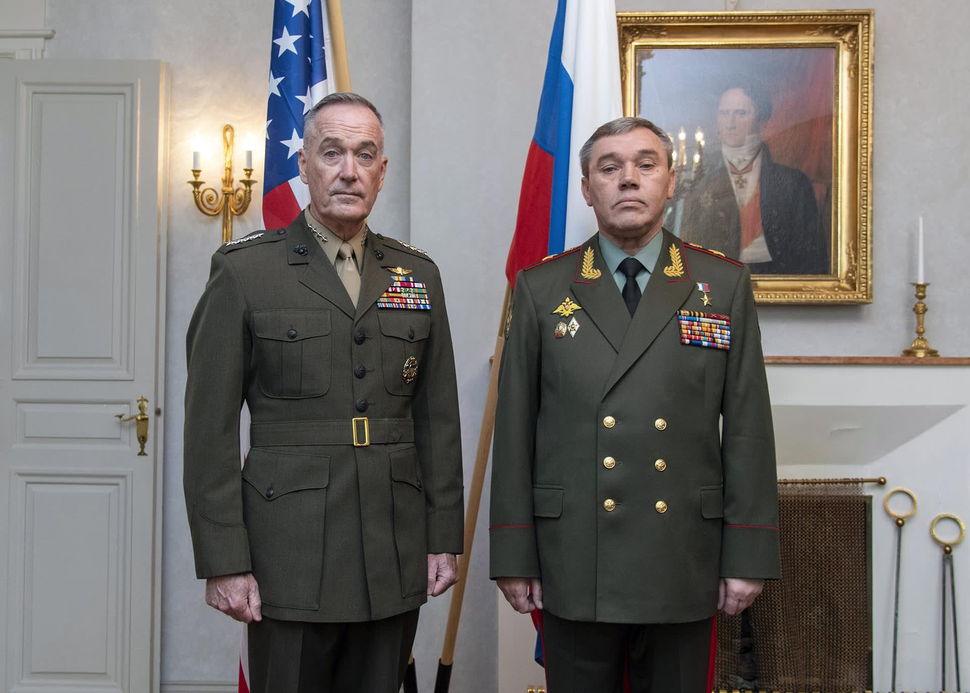 Joseph F. Dunford Jr. ja Valeri Gerasimov