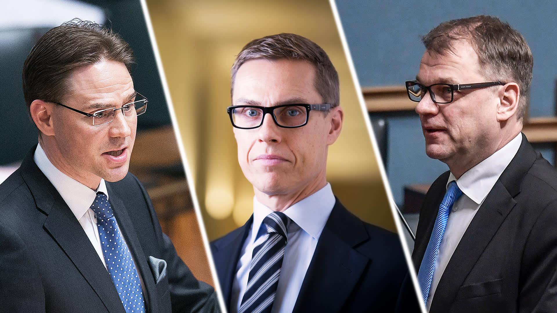 Jyrki Katainen, Alexander Stubb ja Juha Sipilä