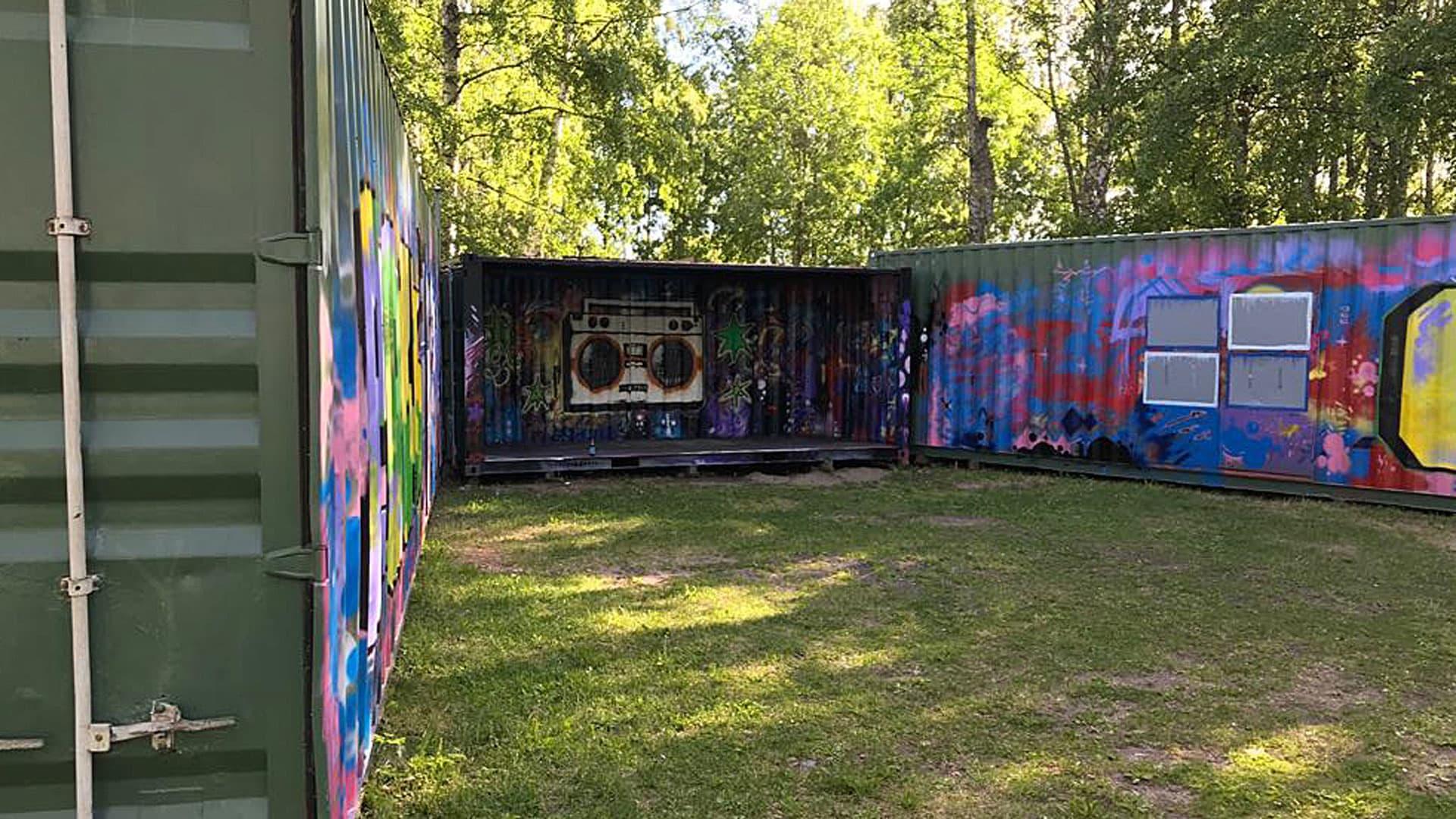 Urban parkissa on tilaa muun muassa esiintyjille.