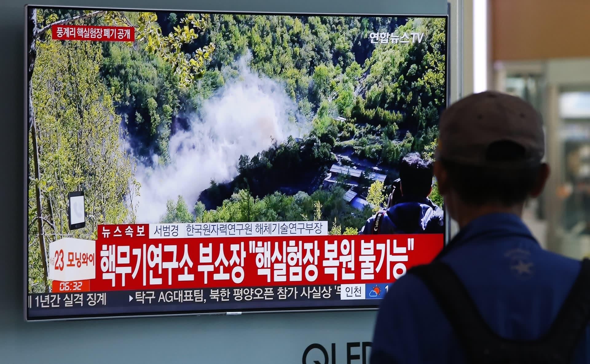 Pohjois-Korea ilmoitti toukokuussa tuhonneensa Punggye-rin ydinkokeiden testipaikan.