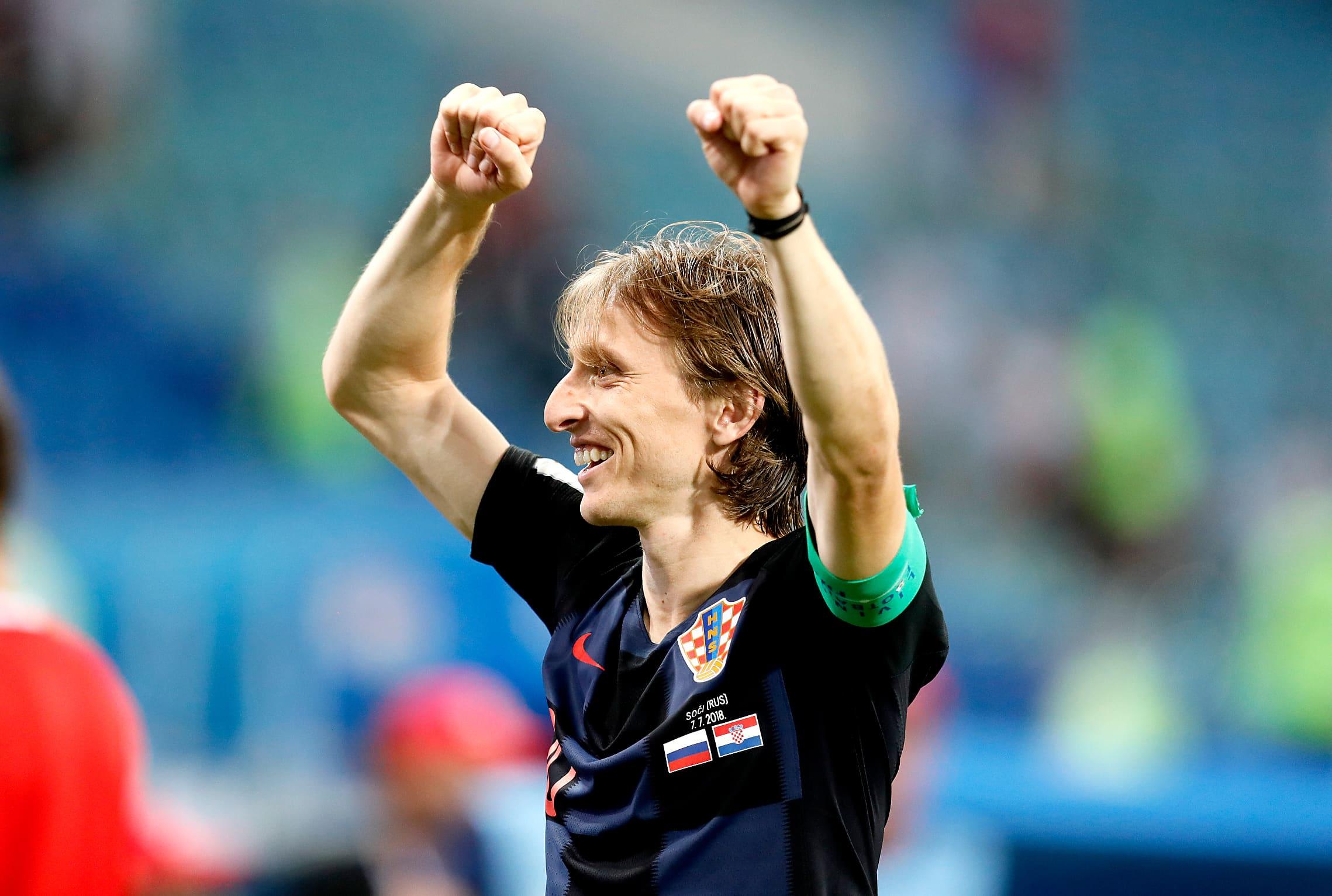 Kroatian Luka Modric tuulettaa.