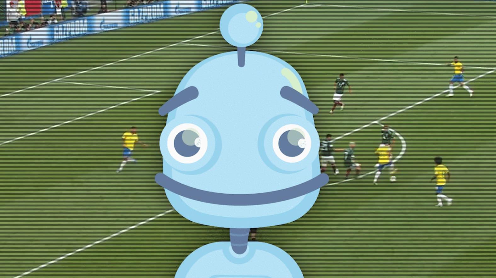 Voitto-robotti opetteli katsomaan jalkapalloa.