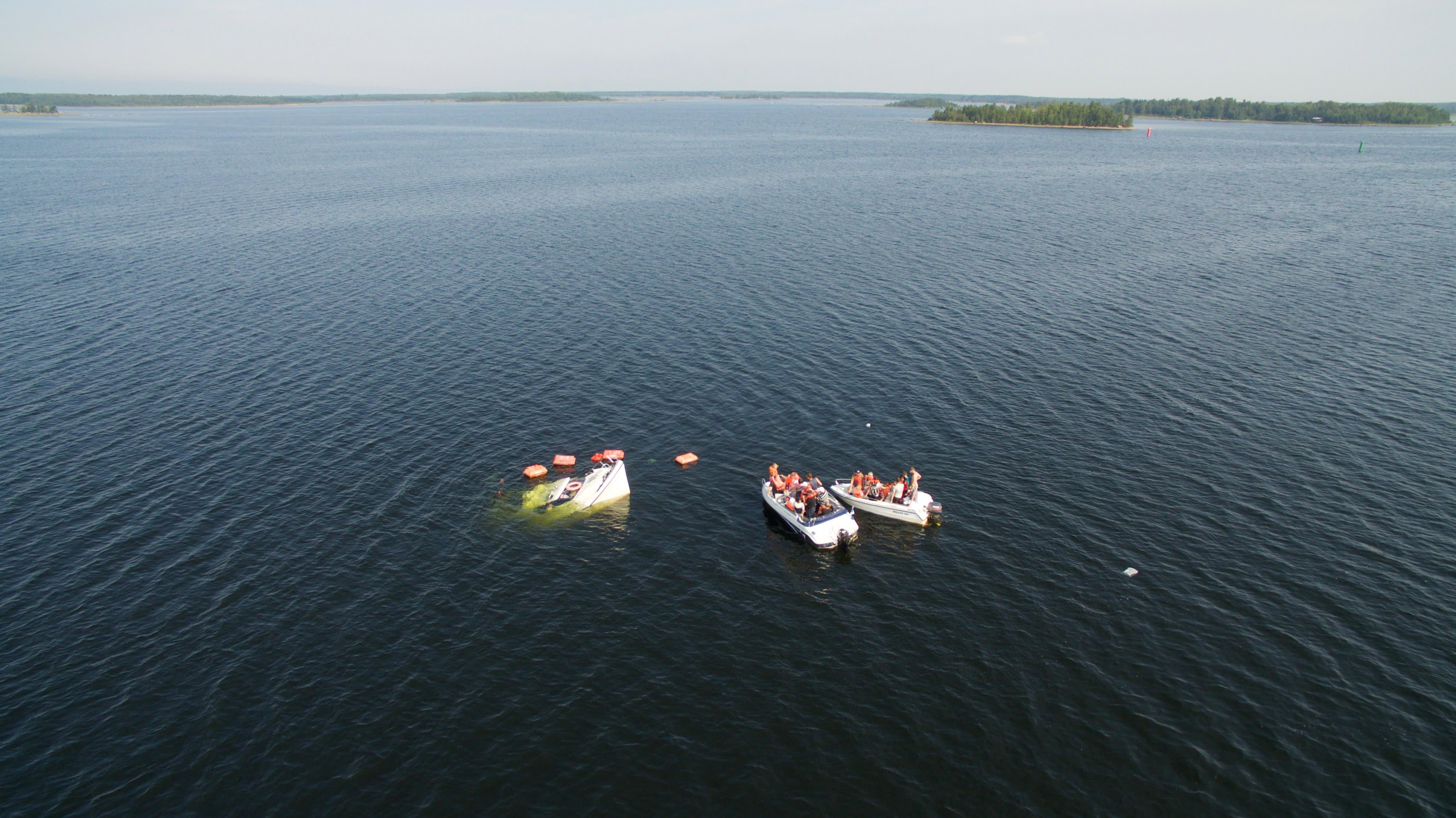 M/s Mässkär upposi torstaina puolimatkassa Pietarsaaren vanhastasatamasta Mässkärin saarelle.