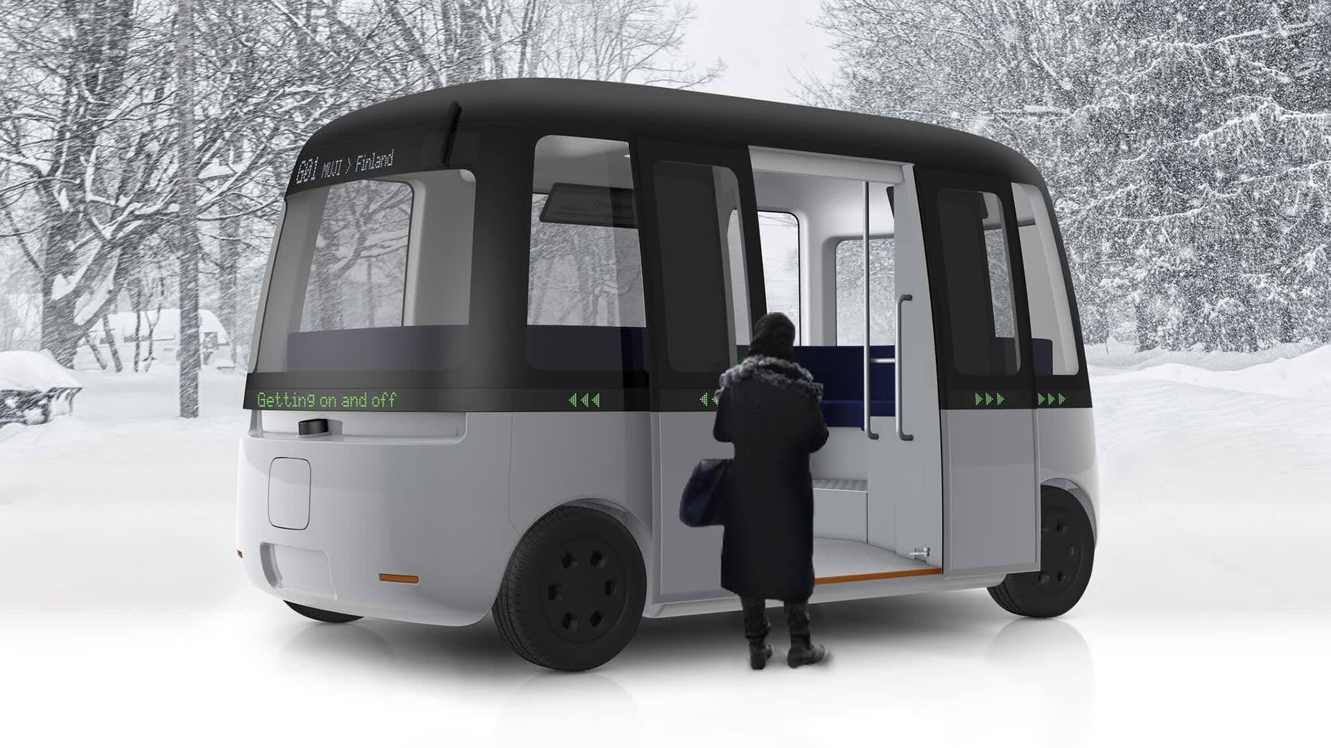 MUJI ja Sensible 4 ovat yhdistäneet osaamisensa kehittääkseen maailman ensimmäisen kaikissa sääolosuhteissa toimivan, tyylikkään robottibussin.