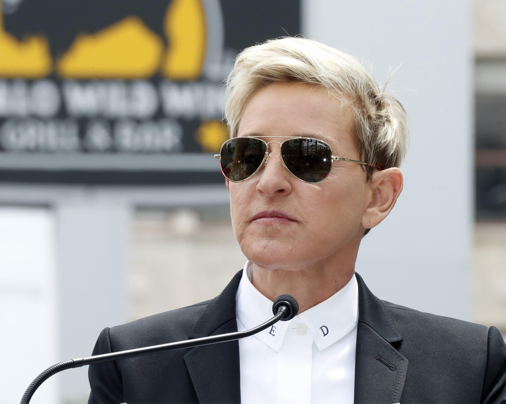 Talk show -tähti Ellen Lee DeGeneres kuvattuna Kaliforniassa huhtikuussa 2018.