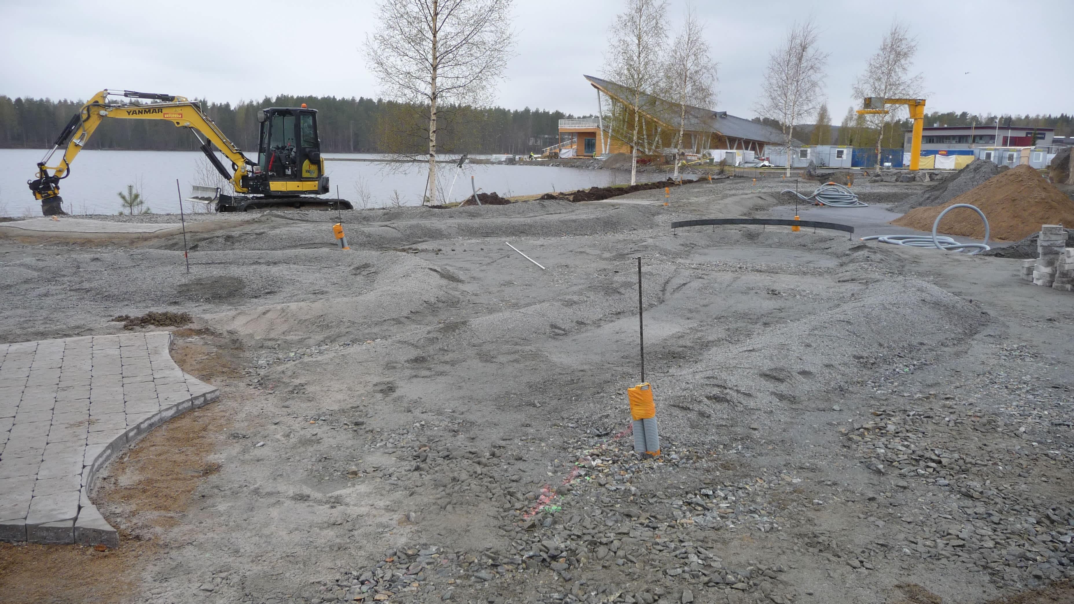 Citygolfkenttä tulee Bellanpuistoon Kallaveden rannalle.